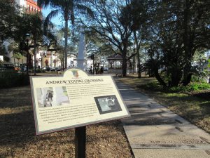 Plaza de la Constiticuion, park, in St. Augustine, FL.