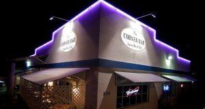 image of The Corner Bar at night for Singer - Songwriter Night