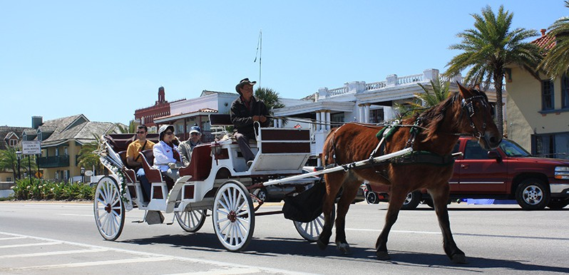 Carriage ride through downtown St. Augustine