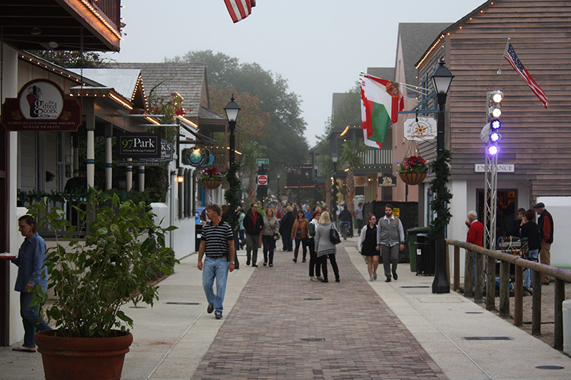 Downtown St. Augustine shopping