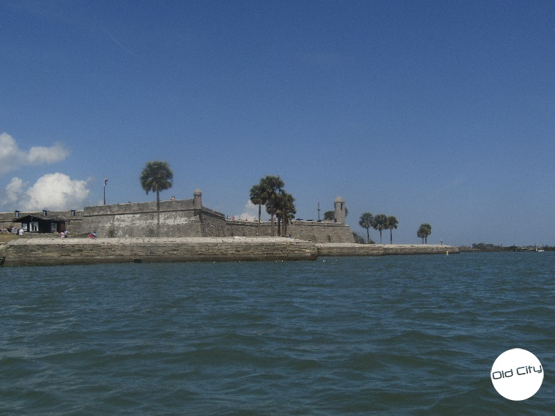 Image contains the Castillo de San Marcos and Matanzas River.