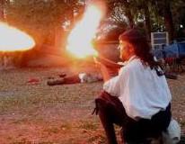 Re-enactors in Battle in St. Augustine