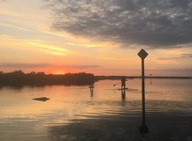 Couples SUP at Sunset