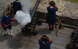 Cannon Firing at Fort Matanzas