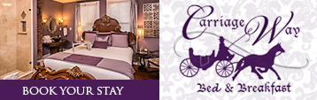 Carriage Way Bed & Breakfast just steps from attractions, restaurants, and more