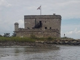 View of Fort Matanzas from the water