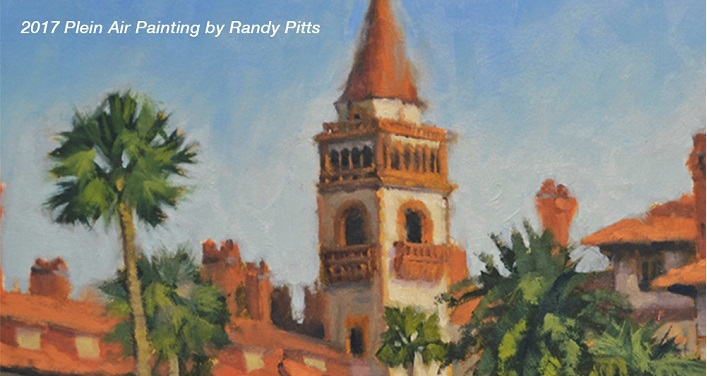 2017 Randy Pitts Plein Air Painting of St. Augustine