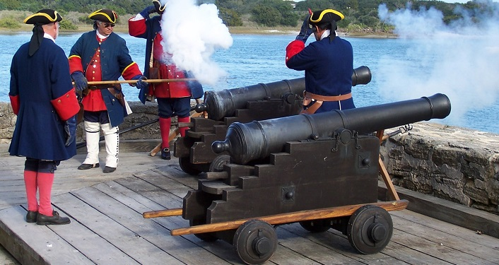 Join our Colonial Spanish re-enactors for Cannon Firings Fort Matanzas