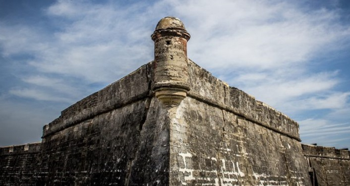 image of tower of Castillo de San Marcos