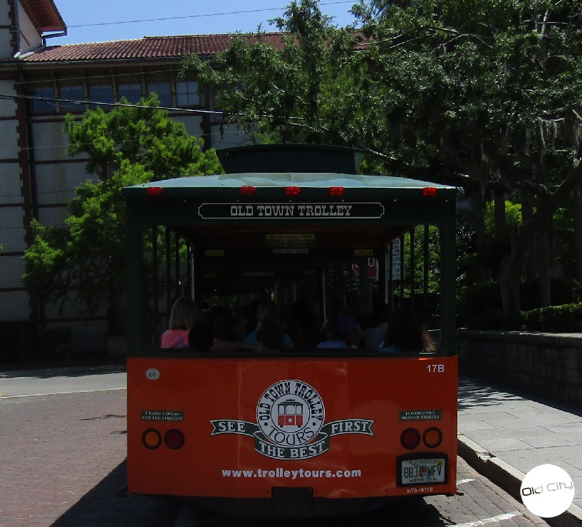 A photo of the Old Town Trolley tours.