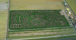 Proud to be a Menorcan Crop Maze at Sykes Family Farms