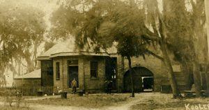 black and white image of Waterworks Building 1915