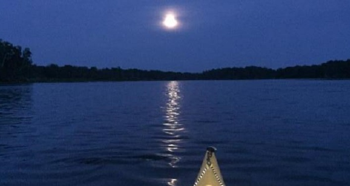 Explore Trout Creek with our Park Naturalists on a Moonlight Kayak Trip.
