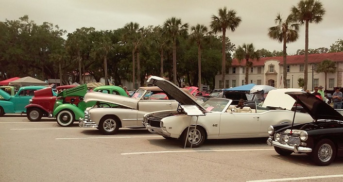 Come check out the vehicles at the Ancient City Auto Show at Florida School for Deaf & Blind