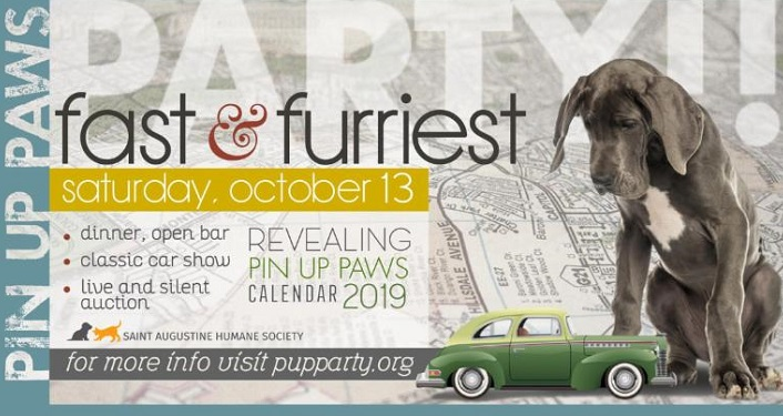Come to the Fast and Furriest Pin Up Paws Party Fundraiser