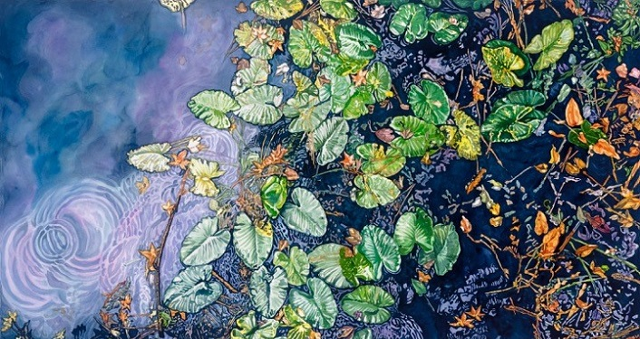 The Wilderness of North Florida's Parks Exhibit are watercolor by Kathy Stark