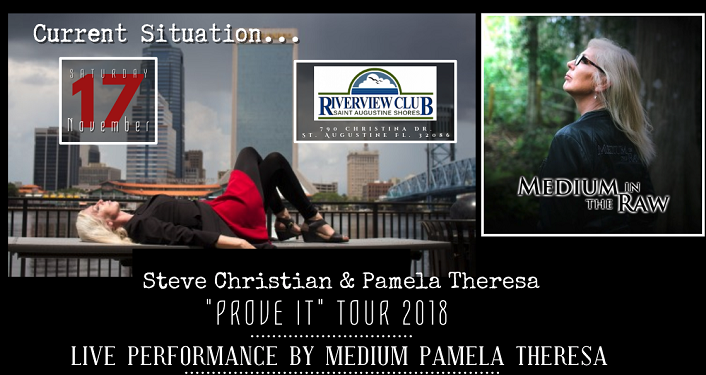 Prove It Tour with Pamela Theresa, Medium, will be at the Riverview Club