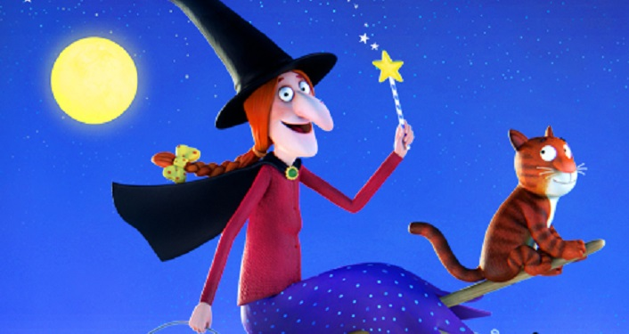 Enjoy the kid friendly movie Room on the Broom