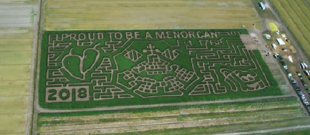 An image of Sykes Family Farms Crop Maze that reads