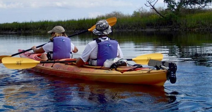 image of 2 people in kayak on Moses Creek Kayak Trip
