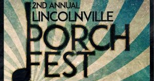 Lincolnville Porch Fest is a free musical tour of historic Lincolnville with over 40 local bands playing on porches throughout Linconville