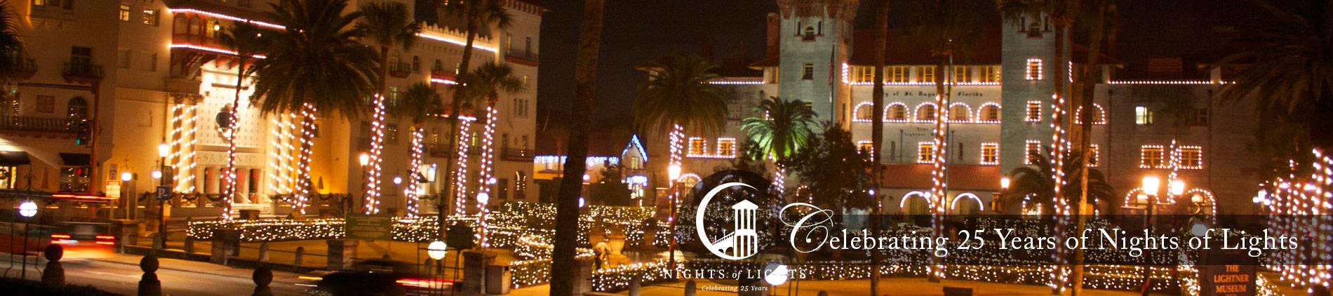 St Augustine Lights Slide background