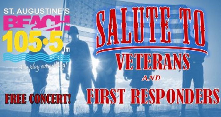 Salute to Veterans and First Responders is a free concert event at the Amphitheatre
