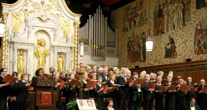 image of St. Augustine Community Chorus performing at the Cathedral Basilica