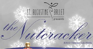 text on grey background; St Augustine Ballet presents the Nutcracker