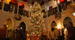 Experience Villa Zorayda decorated for Christmas during a Candlelight Tour
