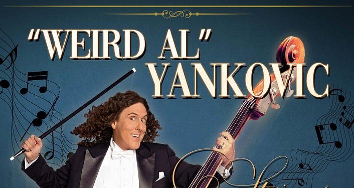 "comedic genius and multiple Grammy award-winning artist ""Weird Al"" Yankovic returns to the St. Augustine Amphitheatre to deliver his ""Strings Attached Tour"""
