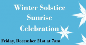 Join us beachside for a Winter Solstice Sunrise Celebration