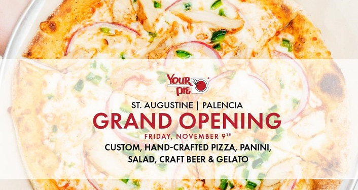 Check out the hand-crafted pizza at Your Pie St. Augustine-Palencia Grand Opening