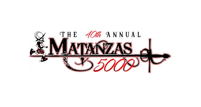 white background, text in black, The 40th Annual Matanzas 5000