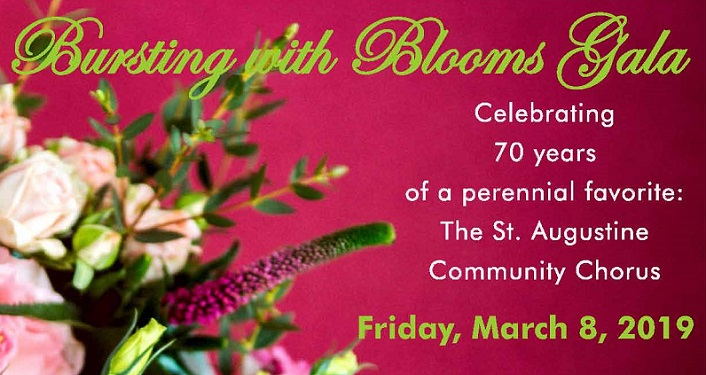 Bursting With Blooms Gala...celebrating 70 years of a perennial favorite, the St. Augustine Community Chorus.