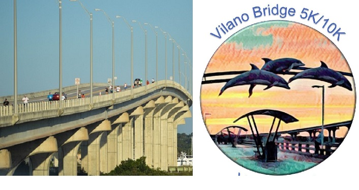 During the Vilano Bridge 5K & 10K there are incredible views of the Intracoastal and area beaches