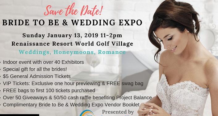 Save the date for the Bride To Be & Wedding Expo
