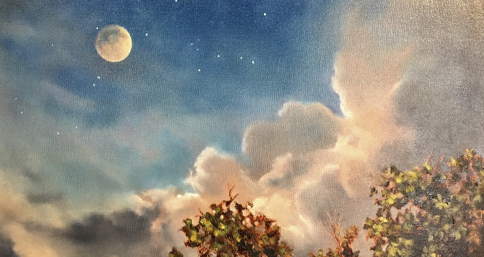 Moonrise by Sydney McKenna is just one of her works of art on display for February.