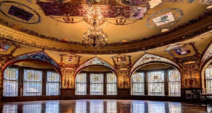 image of the Interior of Dining Hall at Flagler College seen on Historic Tours