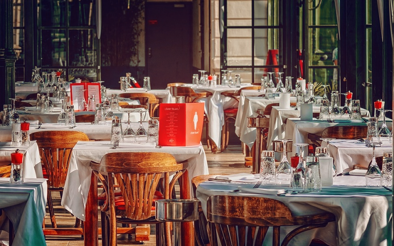 Image is of the inside of a restaurant.
