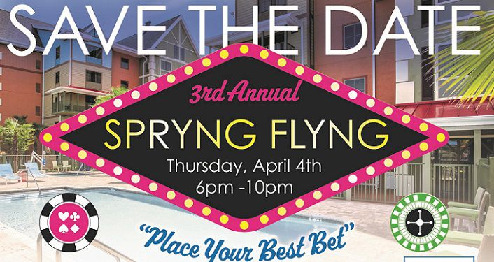 Poster with 3rd Annual Spryng Flyng and the date