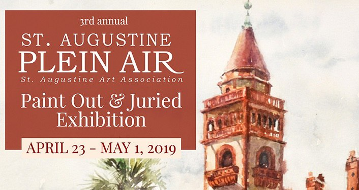 "text ""3rd Annual St. Augustine Plein Air Paint Out & Juried Exhibition Apr - May 1, 2019"""