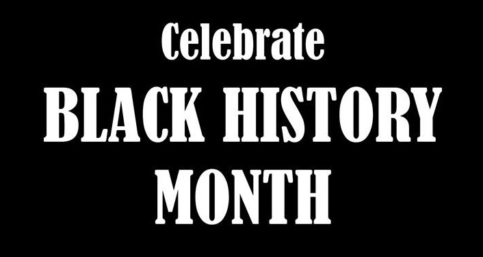 White font with Celebrate BLack History Month