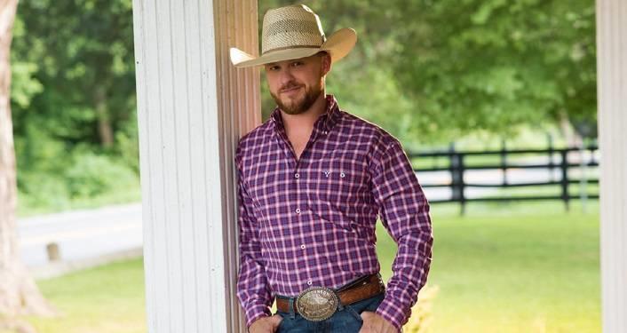 one man wearing cowboy hat