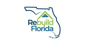 State of Florida image with Rebuild Florida text over it.
