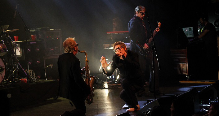The band The Psychedelic Furs performing onstage