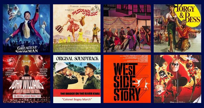 Collage of Musical Movies like Porgy and Bess