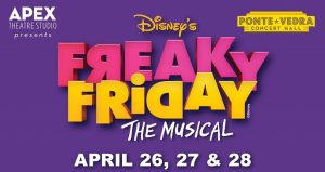 "sign with Apex Theatre Studio presents Disney's ""Freaky Friday"", plus dates"