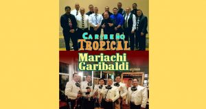 Images of Caribeño Tropical, a premier Latin Band from Tampa that plays allgenres of Latin Music, and Mariachi Garibaldi, an authentic style Mariachi band