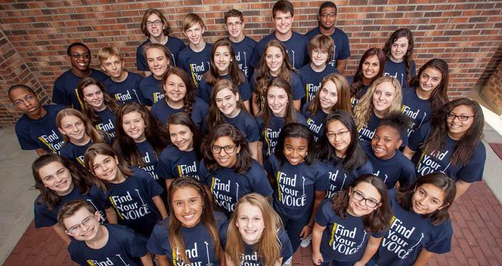 group of young men and women, grades 7 - 12, who are in theFayetteville Academy Chorus